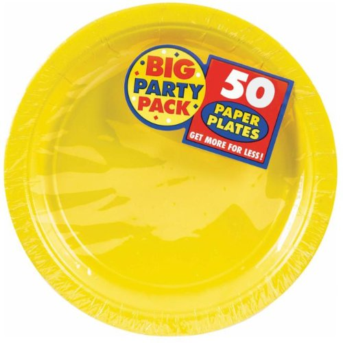 Costumes 203217 Yellow Sunshine Big Party Pack- Dessert Plates - 1