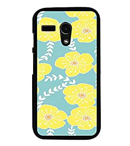 iFasho Animated Pattern flower with leaves Back Case Cover for Moto G