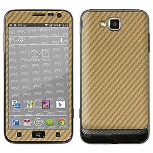 """Samsung Ativ S Skin """"FX-Carbon-Gold"""" Designfolie Sticker für Ativ S (GT-I8750)"""