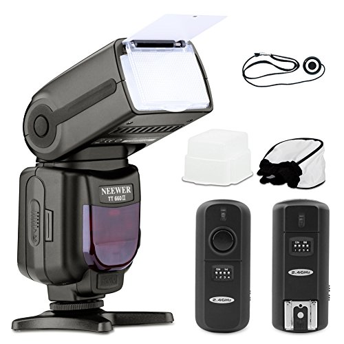 Neewer® 5500K 2.4G Wireless Pro Speedlite Nw Tt660 *Deluxe Kit* For Canon Rebel T5I, T4I, T3I, T3, T2I, T1I, Xsi, Xti, Sl1, Eos 700D, 650D, 600D, 1100D, 550D, 500D, 450D, 400D, 100D, 300D, 60D, 70D Digital Slr Cameras - Includes: Neewer Tt660 Ii(Tr-960 Ii