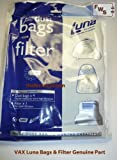 Vax Bags & Filter to fit Luna 1300 & Luna 1400 Genuine
