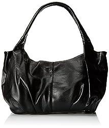 MG Collection Yelena Everyday Top Double Handle Satchel Style Hobo, Black, One Size