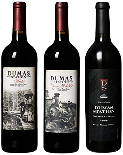 "Dumas Station ""Railroad Reds"" Cab, Merlot And Cuvee Blend Mixed Pack 91+ Points 3 X 750 Ml"