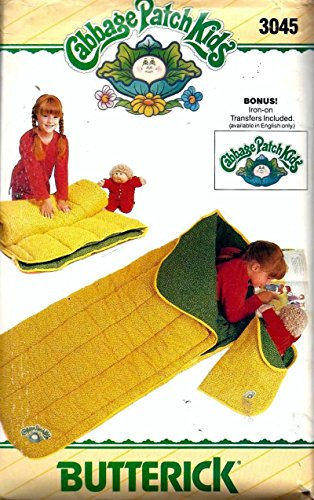 Butterick 3045 Cabbage Patch Child'S Sleeping Bag Sewing Pattern, Vintage front-157627