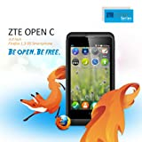2014 Newest ZTE Open C Firefox OS 1.3 Android 4.4 KitKat 4'' Unlocked 3G Smartphone Qualcomm Dual Core 1.2 GHz 4GB ROM 2.0MP Camera WIFI GPS CellPhone for T-Mobile, Orange, O2, Vodafone, TalkTalk,Lyca Mobile, Virgin Mobile, Tesco Mobile, Giffgaff(Black)