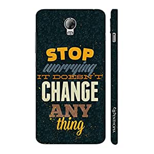 Enthopia Designer Hardshell Case Worrying doesn't change anything Back Cover for Lenovo Vibe P1