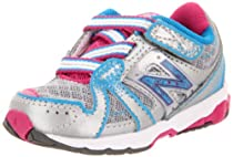 New Balance KV689 Running Shoe (Infant/Toddler),Silver/Light Blue,8 W US Toddler