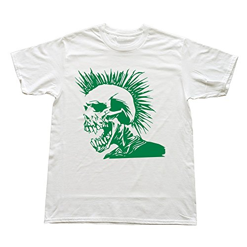 100% Cotton Funny Skull Punk Tee Shirts For Men'S - Round Neck front-747590