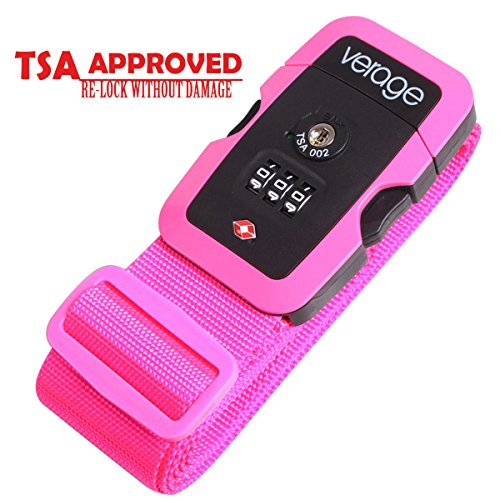 TSA Lock Adjustable Travel Luggage Strap Belt for Bags, Suitcases