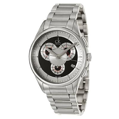 Calvin Klein Men's K2A27104 Basic Analog Display Swiss Quartz Silver Watch