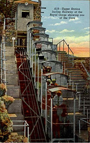 Upper Station Incline Railway At The Royal Gorge Showing One Of The Cars Original Vintage Postcard
