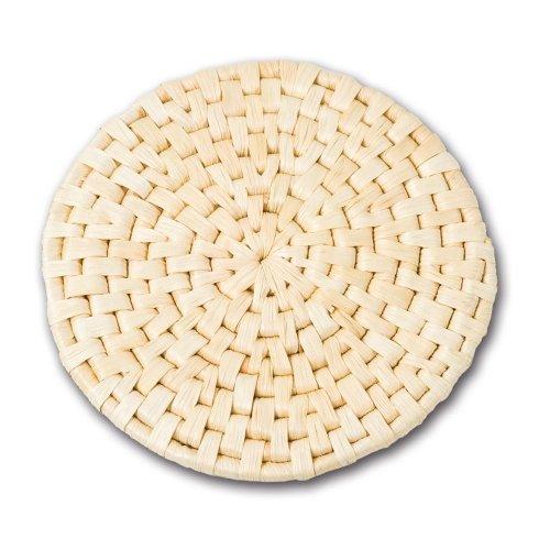 Adam Schmidt Korbwaren Untersetzer, Unterleger, für Töpfe und Gläser, aus Maisblatt, rund, H: 5 mm, Durchmesser: 200 mm