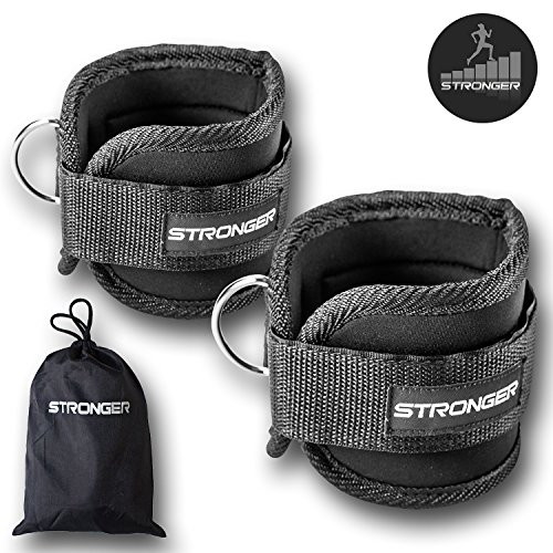 #1 Premium Ankle Straps By Stronger (2 Pk)x2726; Maximize Cable Machine Workouts with Durable Cuffs for Ab, Leg & Glute Exercisesx2726; First Rate Fitness Equipment for Women & Men (Ankle Strap For Cable Machine compare prices)