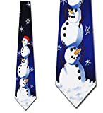 Christmas Ties Snowman NeckTie Mens tie by Ralph Marlin