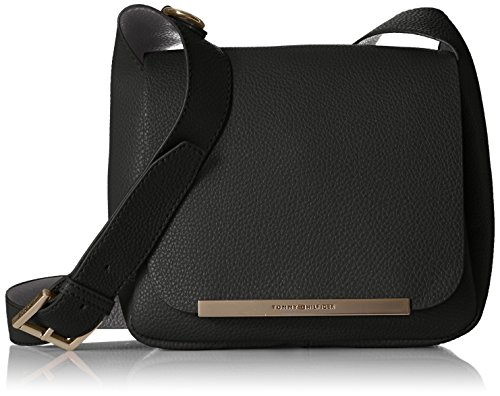 Tommy Hilfiger Sienna Small Saddle Bag, Black/Graphite (Belt Tommy Hilfiger Women compare prices)