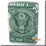 Zippo 1ドル紙幣巻き バックデザイン 本物1ドル札全面巻き ジッポーライター 【MKN】