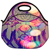 Snoogg Dream Catcher Digital Travel Outdoor Carry Lunch Bag Picnic Tote Box Container Zip Out Removable Carry...