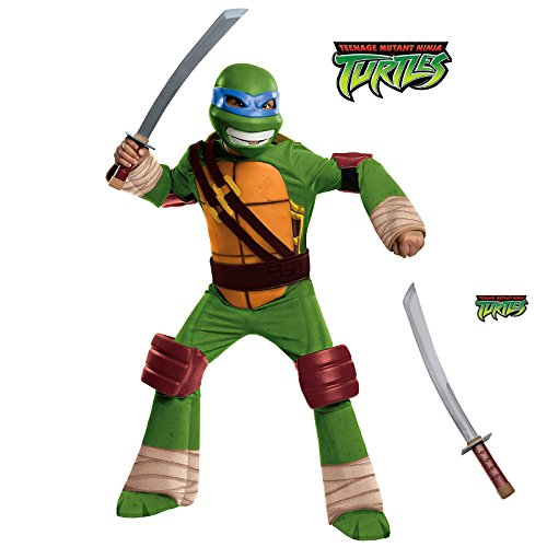 Deluxe Leonardo Premium Costume Kit for Kids with Katana - Medium