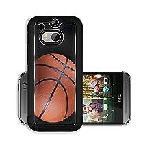 buy Liili Premium Htc One M8 Aluminum Case One Basketball On Black Background Image Id 23112592