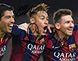 LIMITED EDITION SUAREZ MESSI NEYMAR BARCELONA SIGNED PHOTO + CERT FOOTBALL PRINTED AUTOGRAPH SIGNATURE SIGNED SIGNIERT AUTOGRAM
