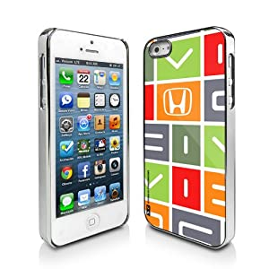 Honda Civic Color Block on White iPhone 5 Chrome Cell Phone Case