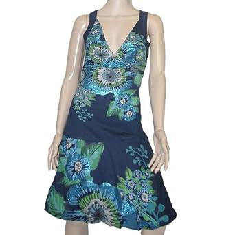 desigual damen kleid ostitu marino blau xl 42. Black Bedroom Furniture Sets. Home Design Ideas