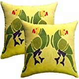D Concept Polydupion Mithoo Crewel Ari Embroidery Cushion Covers (Set Of 2)