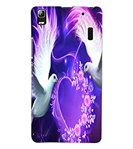 ColourCraft Love Birds Design Back Case Cover for LENOVO K3 NOTE