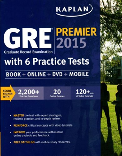 GRE Premier 2015 with 6 Practice Tests with DVD