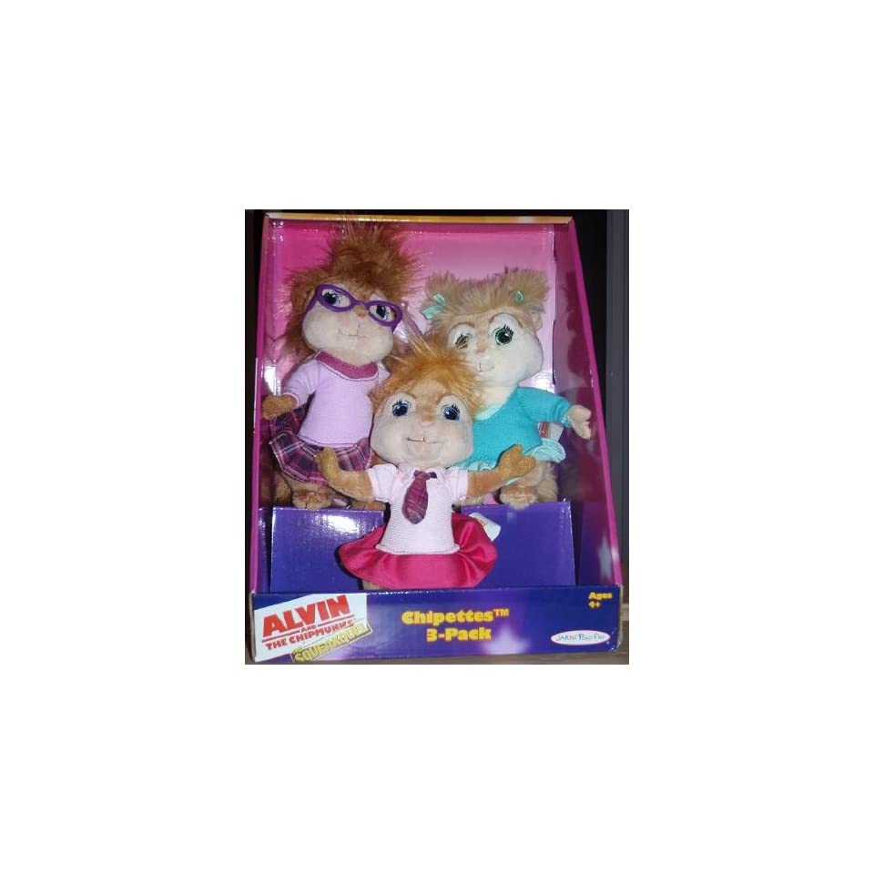 Alvin and the Chipmunks The Squeakquel The Chipettes (3 Pack Mini Plush  Dolls)