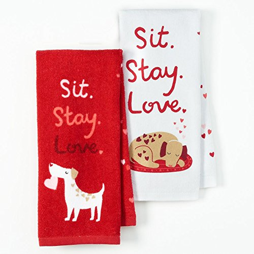 Sit. Stay. Love. towels by Sonoma - Valentine's Day Gift Guide for the Cook www.pinchofnutmeg.com