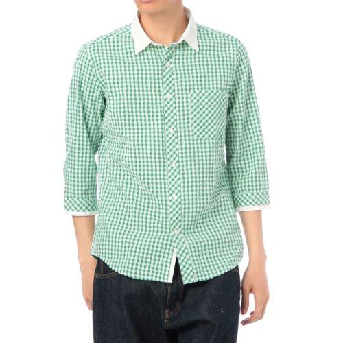(ボイコット)BOYCOTT ギンガムチェックシャツ グリーン系(222) 04(LL)