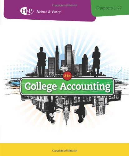 College Accounting, Chapters 1-27 front-852423