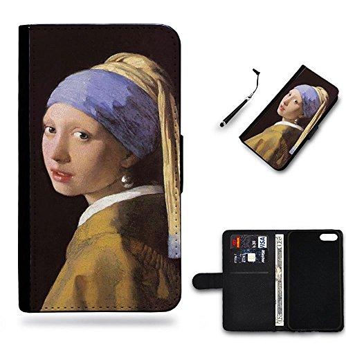 Your Choice Phone Case / Cellulare cassa del cuoio della calotta di protezione di caso Custodia protettiva per Samsung Galaxy Note 4 Edge N9150 // Girl with a Pearl Earring Johannes Vermeer c