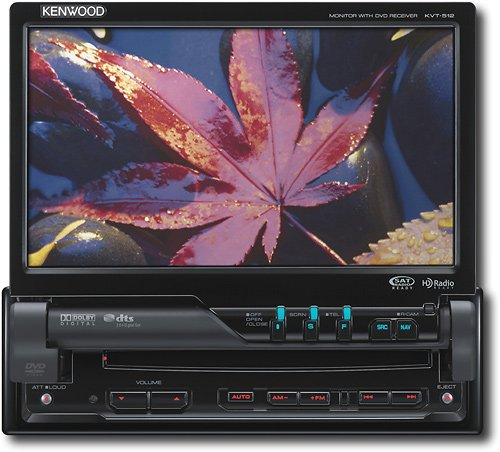 Kenwood Kvt-512 7-Inch Wide Indash Monitor With Usb/Ipod Direct Control/Dvd Receiver