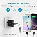 Anker 24W Dual USB Wall Charger PowerPort 2 (with Foldable Plug) for iPhone SE / 6s / 6 / 6 Plus, iPad Air 2 / Pro / mini 3, Galaxy S7 / S7 Edge / S6 / S6 Edge / Edge+, Note 5, LG G5 and More