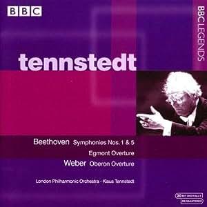 ベートーヴェン:交響曲第1番, 第5番「運命」/歌劇「エグモント」序曲/ウェーバー:歌劇「オベロン」序曲(ロンドン・フィル/テンシュテット)(1989-1991)