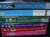 img - for Set of 6 Love Inspired Larger Print Paperback Books: Restless Hearts, A Soldiers Reunion, From This Day Forward, Marrying Minister Right, Dad in Training and A Ring and a Promise book / textbook / text book