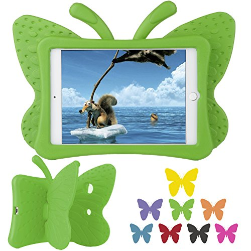 Ipad Mini 1/Mini 2/ Mini 3 Case, Xboun EVA Light Weight Shock Proof Super Protection Kids [Lovely Butterfly Series] Tablet Case Cover Kiddie Funny Cases for Apple Ipad Mini 1/Mini 2/ Mini 3 (Green) (Marvel Ipad 2 Case compare prices)