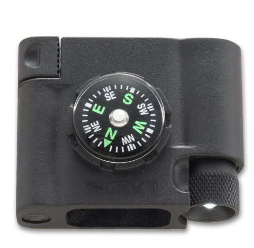 Columbia River Knife and Tool (CRKT) 9703 Survival Bracelet Accessory Compass, LED and Firestarter