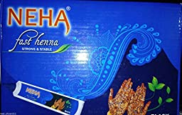 Indian Neha Mehndi Fast Tubes 10-(Black)