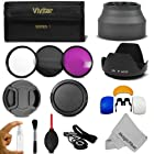 67MM Professional Accessory Kit for CANON Rebel T5i T4i T3i T3 T2i, EOS 700D 650D 600D 550D 70D 60D 7D 6D DSLR Cameras with 18-135MM EF-S IS STM Zoom Lens - Includes: Vivitar Filter Kit (UV, CPL, FLD) + Carry Pouch + Lens Hoods (Tulip and Collapsible) + Flash Diffuser Set + Lens Caps (Center Pinch and Snap On) + Cap Keeper Leash + Deluxe Cleaning Kit + MagicFiber Microfiber Lens Cleaning Cloth
