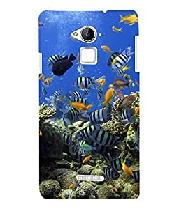 printtech Fish Ocean Coral Back Case Cover for Coolpad Note 3 Lite
