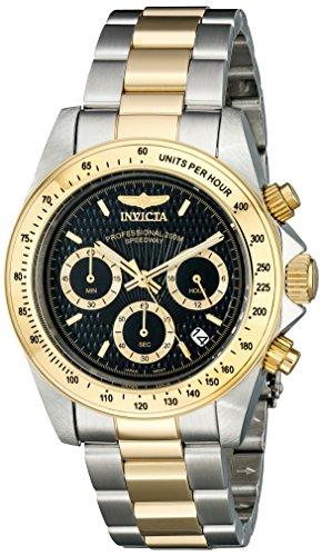 Invicta 9224 Speedway Orologio da Polso Unisex, Cronografo al Quarzo, Rivestito in Acciaio Inox