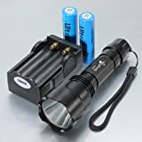 Ultrafire CREE T6 LED 5-Mode C8 Flashlight Torch Lamp (With Batteries and Charger)