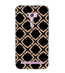 Rectangular pattern Back Case Cover for Asus Zenfone Selfie::Asus Zenfone Selfie ZD551KL