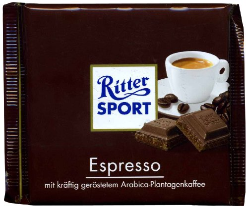 Ritter Sport Espresso Chocolate Bar-Pack of 3