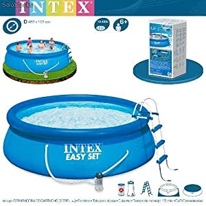 Intex 56409fr piscine kit piscine easy set 4m57 x 1m07 for Bache piscine intex 4 57