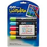 Expo Neon Dry Erase Markers, Bullet Tip, 5-Pack, Assorted Colors