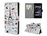 Xperia Z3 ケース SO-01G SOL26 レザーケース おしゃれデザイン バラエティ かわいい 手帳型ケース 手帳 カバー スマホケース エクスペリアZ3 ケース 保護ファイル+タッチペン付き (Xperia Z3)